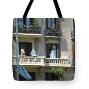 Superheroes On The Sant Joan Tote Bag