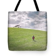 Superman And The Big Hill Tote Bag