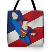 Superman And The Flag Tote Bag