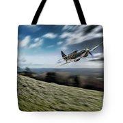 Supermarine Spitfire Fly Past Tote Bag