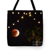 Supermoon And Twinkle Lights Tote Bag
