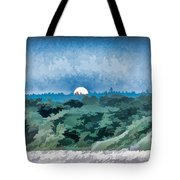 Supermoon Rising - Painted Effect Tote Bag