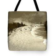 Superstar Skiing Tote Bag