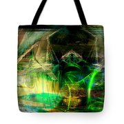 Suppleness In A Green Light Tote Bag by Art Di