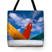 Surboards In A Plymouth Tote Bag by Dana Edmunds - Printscapes