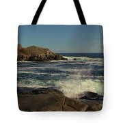 Surf At Nubble Light Tote Bag