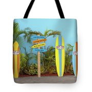 Surf Boards At Ron Jon's Tote Bag