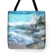 Surf Break Tote Bag