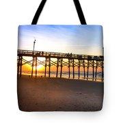 Surf City Fishing Pier Tote Bag