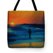 Surf Fishing Tote Bag
