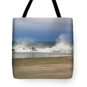 Surf Hitting Rocks 2 Tote Bag