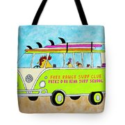 Surf School Tote Bag