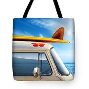 Surf Van Tote Bag by Carlos Caetano