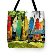 Surfboard Fence II-the Amazing Race Tote Bag