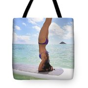 Surfboard Headstand Tote Bag by Tomas del Amo - Printscapes