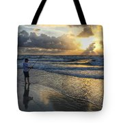 Surfcaster Sunrise Delray Beach Florida Tote Bag