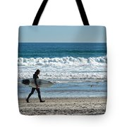 Surfer And His Board Tote Bag
