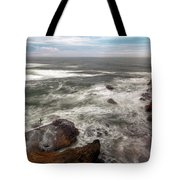 Surfer At Cape Kiwanda In Pacific City Tote Bag