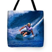 Surfer Dude Catching A Wave Tote Bag