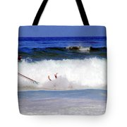 Surfers At Asilomar State Beach Three Oopsy Daisy Tote Bag