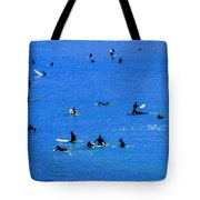Surfers Waiting And Waiting Tote Bag