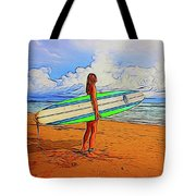 Surfing 19518 Tote Bag