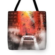 Surfing 5th Avenue Tote Bag by Barry C Donovan