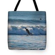 Surfing At Hampton Nh Tote Bag