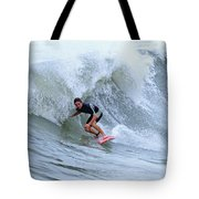 Surfing Bogue Banks 3 Tote Bag