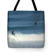 Surfing Carmel Beach Two Tote Bag