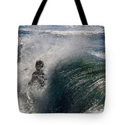 Surfing Into The Sun Tote Bag