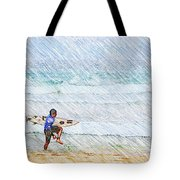 Surfer In Aus Tote Bag