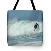 Surfing On The Oregon Coast Tote Bag