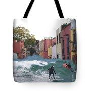 Surfing Quebrada Tote Bag
