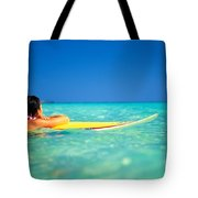Surfing Serenity Tote Bag by Dana Edmunds - Printscapes