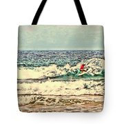 People On The Wave Tote Bag