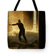 Surfing The Dawn Tote Bag
