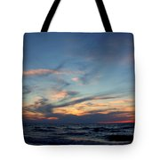 Surfing The Horizon Tote Bag