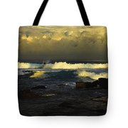 Surfing The Storm Tote Bag