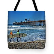 Surfing Today Tote Bag