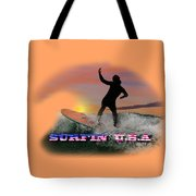Surfing U.s.a. Tote Bag