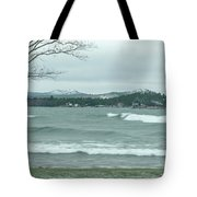 Surfing Waves Tote Bag
