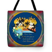 Surfing Waves Of Abstract Art By Omashte Tote Bag