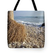 Surfing With Palms Tote Bag
