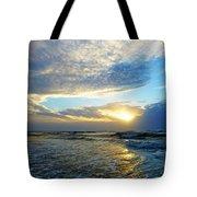 St. Augustine Beach Sunrise Surf Tote Bag