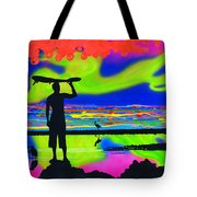Surfscape Dreaming Tote Bag