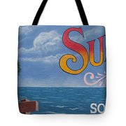 Surfside Beach Sign Tote Bag
