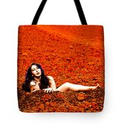 Surprised Martian Hatching Tote Bag