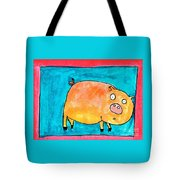 Surprised Pig Tote Bag