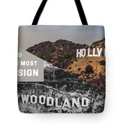 Surprising Facts Of Hollywood Sign Tote Bag